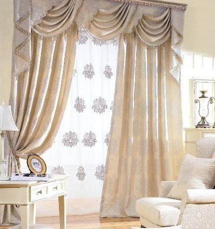 窗帘 演绎经典时尚欧式窗帘点缀完美家居生活  换个漂亮窗帘杆迎新年